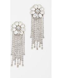 BaubleBar - Floral Chain Earrings - Lyst