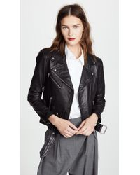 VEDA - Jayne Classic Leather Jacket - Lyst