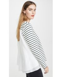 CLU Stripe Shirt With Panelled Back - Multicolour