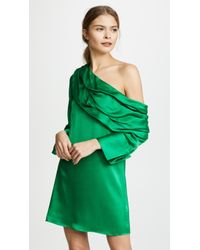 Alice + Olivia - Serina One-shoulder Stretch-silk Satin Mini Dress - Lyst