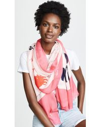 Kate Spade - Sandy's Seaside Stand Oblong Scarf - Lyst