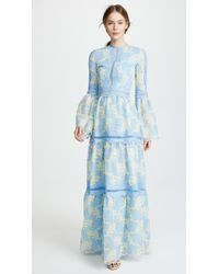 Costarellos - Bell Sleeve Maxi Dress - Lyst