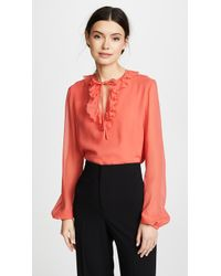 Giambattista Valli - Ruffle Neck Top - Lyst