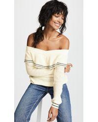 BB Dakota - Rush Week Off Shoulder Ruffle Sweater - Lyst