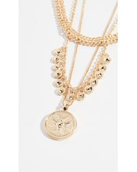 Luv Aj - The Noa Coin Charm Necklace - Lyst