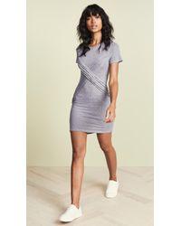 Lanston - Cross Front Tee Mini Dress - Lyst
