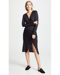 Lanston - Ruched Midi Dress - Lyst