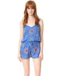 Bindya - Mix Embroidery Romper - Lyst