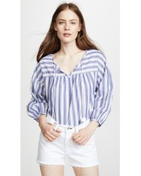 Madewell - Peasant Top In Shea Stripe - Lyst