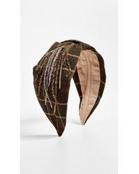 NAMJOSH - Olive Plaid Headband - Lyst