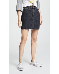 Madewell - Vintage Black Denim Skirt - Lyst