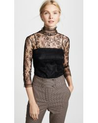 Adam Lippes - Chantilly Lace Turtleneck - Lyst