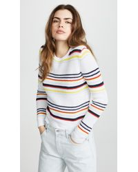 Autumn Cashmere | Multi Stripe Textured Crewneck | Lyst