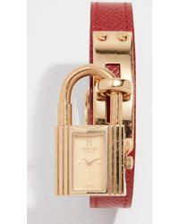 What Goes Around Comes Around - Hermes Epsom Kelly Watch 20mm - Lyst