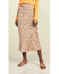 Free People Normani Bias Printed Skirt - Multicolour