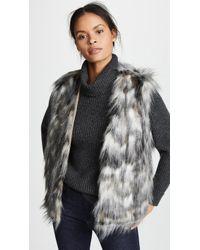 Cupcakes And Cashmere - Frisco Multi-colored Faux Fur Vest - Lyst