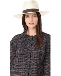 Janessa Leone - Packable Marcell Short Brimmed Fedora - Lyst edb3fc8e7005
