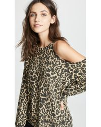 LNA - Brushed Leopard Flynn Sweater - Lyst
