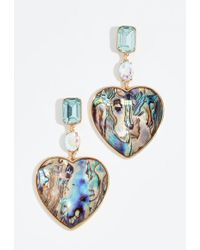 BaubleBar - Crystal Heart Statement Drop Earrings - Lyst