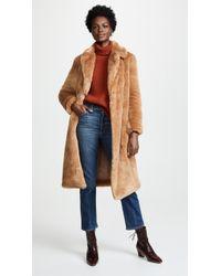 Ottod'Ame - Tenero Faux Fur Coat - Lyst