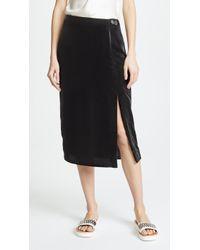 Jason Wu - X Diane Kruger Velvet Pencil Skirt - Lyst