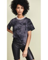 3.1 Phillip Lim - Tie Dye T-shirt With Mohair Ribs - Lyst