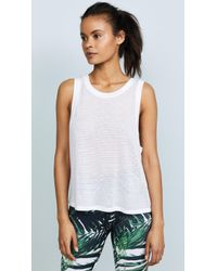 Beyond Yoga - Mesh Me Up Muscle Tank - Lyst