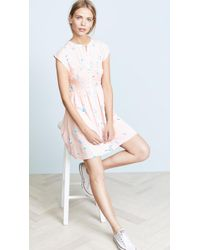 Free People - Greatest Day Smocked Mini Dress - Lyst