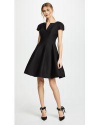 Halston - Notch Neck Tulip Dress - Lyst