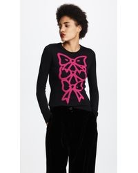 Boutique Moschino | Bow Print Jumper | Lyst