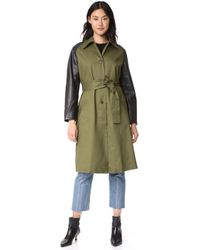 VEDA - Army Trench Coat - Lyst