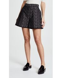 Victoria, Victoria Beckham | Front Pleat Shorts | Lyst