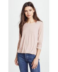 Three Dots - Front Tuck 3/4 Sleeve Top - Lyst