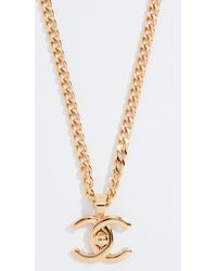 What Goes Around Comes Around - Chanel Gold Turnlock Long Necklace - Lyst