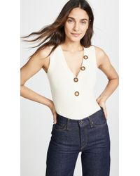Lyst - Ronny Kobo Payton Sleeveless Bodysuit in White ccaa029e4
