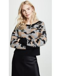 Marissa Webb - Freda Cropped Camo Sweater - Lyst