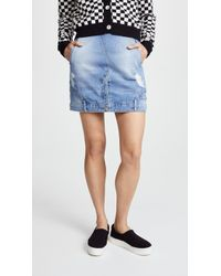 SJYP - Reverse Detail Denim Skirt - Lyst
