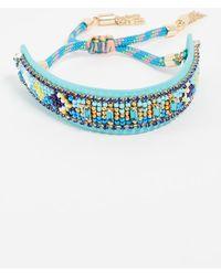 Rebecca Minkoff - Zigzag Seed Bead Friendship Bracelet - Lyst