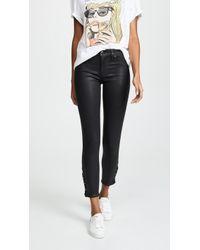 Hudson Jeans - Nico Midrise Coated Crop Super Skinny Jeans - Lyst