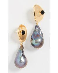 5c7739c433bc Lyst - Oscar de la Renta Crystal Leaf Asymmetrical Earring Set ...