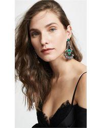 Elizabeth Cole - Striped Crystal Earrings - Lyst