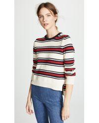 Chinti & Parker - Lace Stitch Split Hem Sweater - Lyst