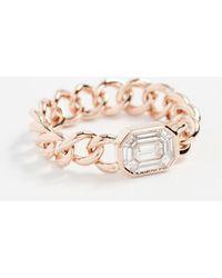 SHAY - 18k Illusion Emerald Cut Diamond Link Ring - Lyst