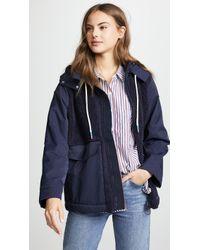 Tory Sport - Sherpa Hooded Jacket - Lyst
