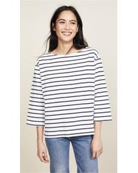 Madewell - Striped Boat Neck Top - Lyst
