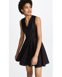 Versus - Woven Pinstripe Dress - Lyst