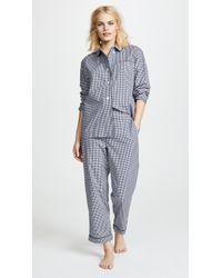 Sleepy Jones | Large Gingham Bishop Pajama Set | Lyst