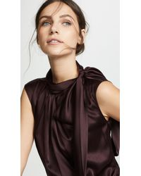 Edition10 - Satin Tie Neck Blouse - Lyst