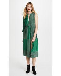 Robert Rodriguez   Mixed Print Maxi Dress   Lyst