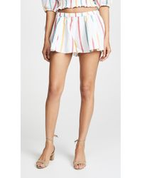 Caroline Constas - Pleated Shorts - Lyst